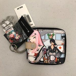 NWT Tokidoki for Leposrtsac Pink Gray Wallet